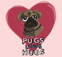Pugs Love Hugs - Version 2 Baby Tee
