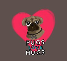 Pugs Love Hugs - Version 2 Mens V-Neck T-Shirt