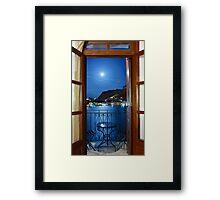 Moonlight Serenade in Kastellorizo Framed Print