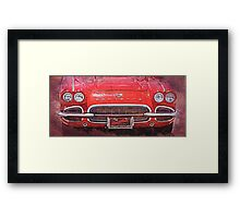 Vintage Red Vette Framed Print
