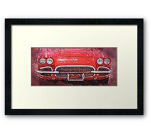 Vintage Red Vette Framed Print