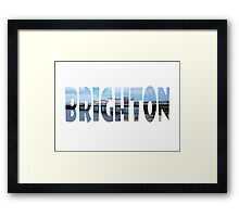 Brighton Framed Print
