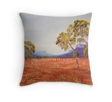 Golden Plains Throw Pillow