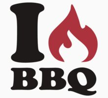 I love BBQ One Piece - Long Sleeve