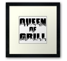 Queen of Grill Framed Print
