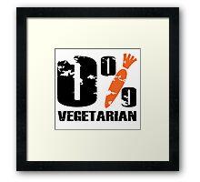 0 % Vegetarian Framed Print