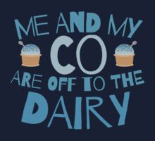 Me and my co are off to the dairy funny New Zealand kiwi saying Kids Clothes