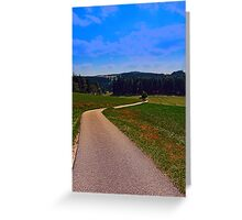 Yet another boring hiking trail picture | landscape photography Greeting Card