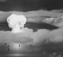 Mushroom Cloud Operation Crossroads Nuclear Weapons Test (July 1946) Sticker