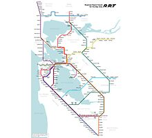 Regional Rapid Transit for the Bay Area Photographic Print