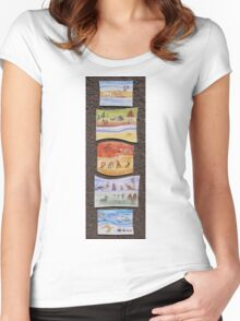 Puzzle Painting Animals from Earth Women's Fitted Scoop T-Shirt