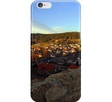 Village skyline below the castle at sundown | landscape photography iPhone Case/Skin
