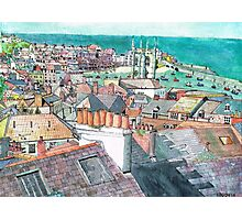 St Ives Chimney pots Photographic Print