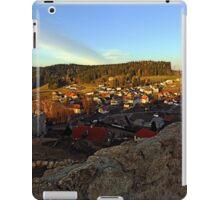 Village skyline below the castle at sundown | landscape photography iPad Case/Skin