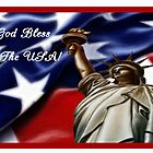 God Bless The USA Patriotic Card by valleygirl