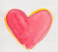 one big red heart by JanaZgun