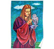 Madona With Owl Poster