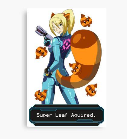 Zero Suit Samus: Super Leaf Acquired! Canvas Print