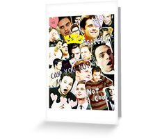 sebastian stan collage Greeting Card