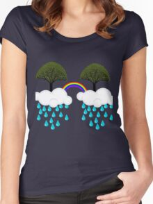 rainbow tree Women's Fitted Scoop T-Shirt