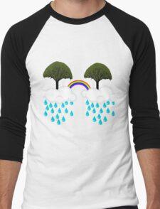 rainbow tree Men's Baseball ¾ T-Shirt