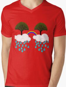 rainbow tree Mens V-Neck T-Shirt
