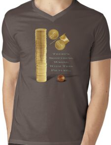 Wealth Inequality in the USA Mens V-Neck T-Shirt