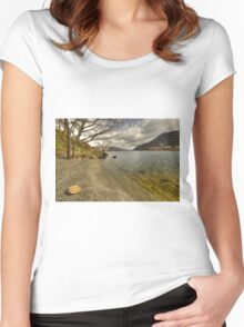 Landscape of the Lake  Women's Fitted Scoop T-Shirt
