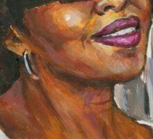 Portrait of Angela by Alga Washington Sticker