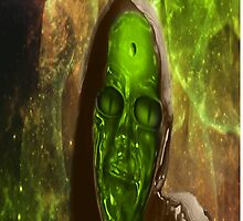 Green Glass Alien by Coelina