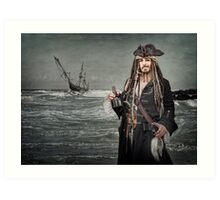 Captain Jack Saves The Rum Art Print