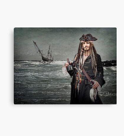 Captain Jack Saves The Rum Canvas Print