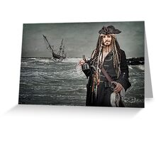 Captain Jack Saves The Rum Greeting Card