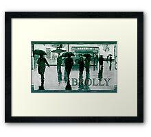 Brolly Brains. Framed Print