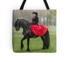 Friesian Horse and Rider Tote Bag