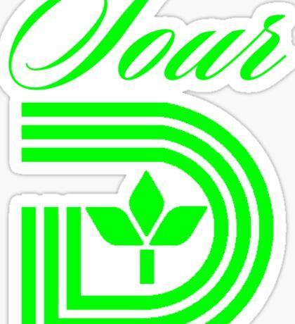 Sour D Green Apple Sticker