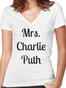 Mrs. Charlie Puth Women's Fitted V-Neck T-Shirt
