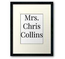 Mrs. Chris Collins Framed Print