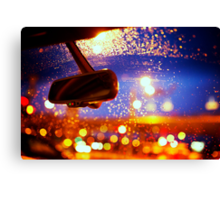 Raindrops on the Car Window Canvas Print