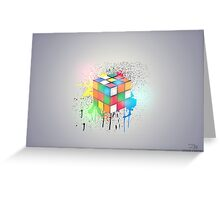 Light Cube Greeting Card