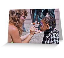 Streer Face Painter Greeting Card