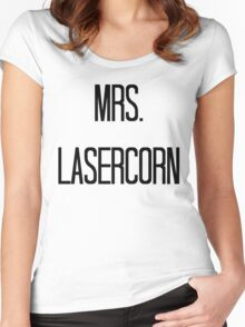 Mrs. Lasercorn Women's Fitted Scoop T-Shirt