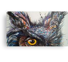 'Owl Insanity' 2014 Metal Print