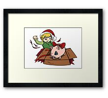 Christmas Pig Framed Print