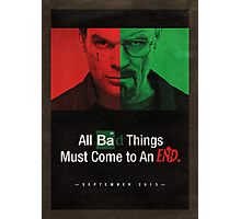 Breaking Bad and Dexter Finale Photographic Print