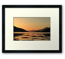 Knoydart Sunset Framed Print