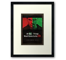 Breaking Bad and Dexter Finale Poster Framed Print