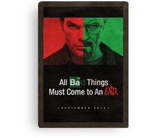 Breaking Bad and Dexter Finale Poster Canvas Print