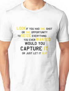 EMINEM MOTIVATIONNAL SHIRT BLACK&YELLOW Unisex T-Shirt
