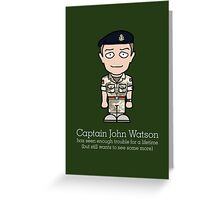 Captain John Watson (card) Greeting Card